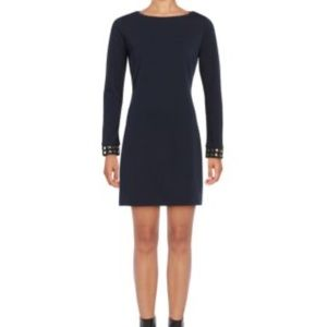 Knit Sheath with Studded Sleeves